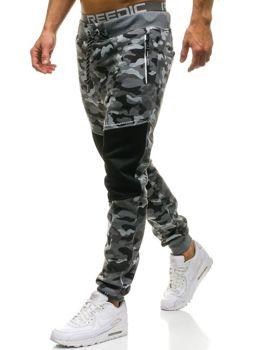 Мужские спортивные брюки камуфляж-серые Bolf QN274