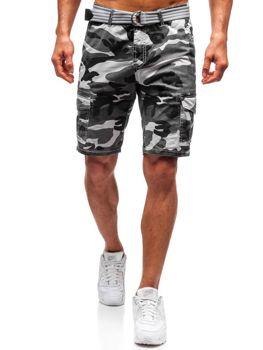 Мужские шорты карго с ремнем серые Bolf 5604