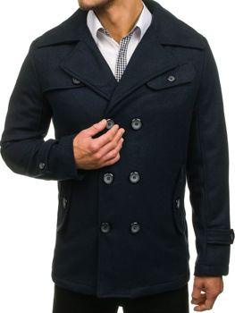 Мужское зимнее пальто темно-синее Bolf EX906