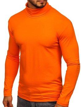 Мужской гольф без принта оранжевый Bolf S6963