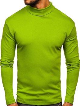 Мужской гольф без принта светло-зеленый Bolf 145347