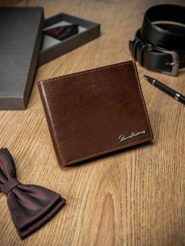 Мужской кошелек кожаный коричневый 1680