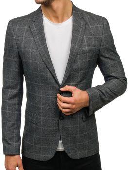 Мужской пиджак серый Bolf 1141