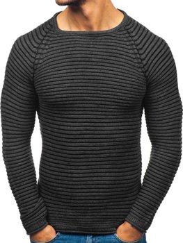 Мужской свитер антрацитовый Bolf 152