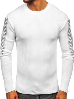 Мужской свитер белый Bolf 360