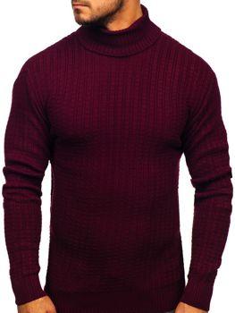 Мужской свитер гольф бордовый Bolf 315