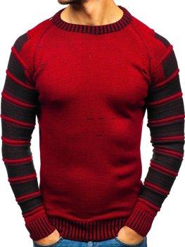 Мужской свитер красный Bolf 6007