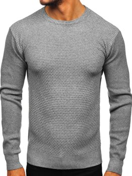 Мужской свитер серый Bolf 8512