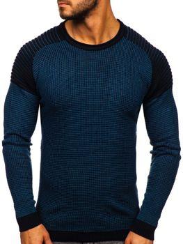 Мужской свитер синий Bolf 0004