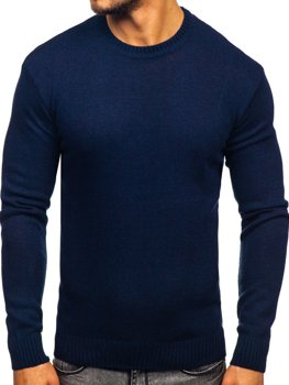 Мужской свитер темно-синий Bolf 0001