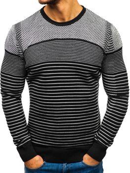 Мужской свитер черно-белый Bolf 1015