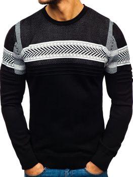 Мужской свитер черный Bolf 1016