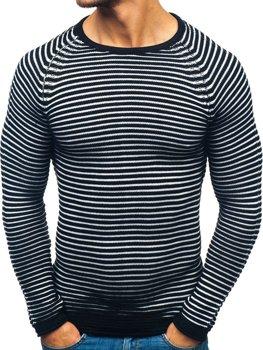 Мужской свитер черный Bolf 152