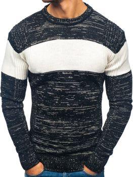 Мужской свитер черный Bolf 82901