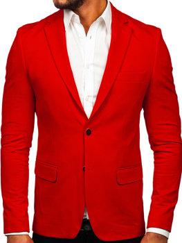 Мужской элегантный пиджак красный Bolf SR2003