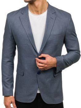 Мужской элегантный пиджак серый Bolf 1050