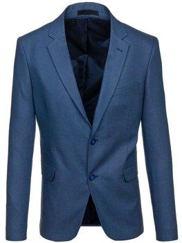 Мужской элегантный пиджак синий Bolf 1050