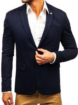 Мужской элегантный пиджак темно-синий Bolf 191060