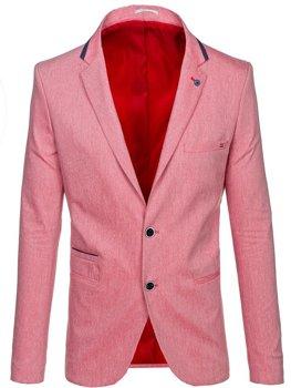 Мужской casual пиджак красный Bolf 0134