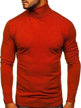 Оранжевый мужской свитер гольф Bolf YY02