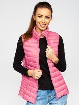Пудрово-розовый стеганый женский жилет Bolf 23038