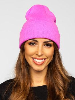 Розовая женская зимняя шапка YW09004