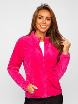 Розовая флисовая женская толстовка Bolf HH001