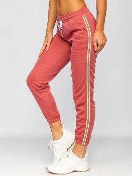 Розовые женские спортивные брюки Bolf YW01020B