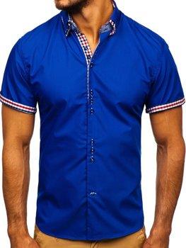 Рубашка мужская BOLF 3507 васильковая