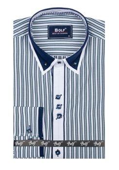 Рубашка мужская BOLF 6884 зеленая