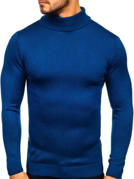 Свитер мужской гольф синий Bolf 4519