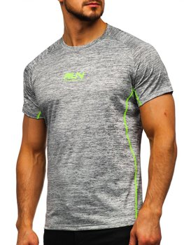 Серая мужская тренировочная футболка с принтом Bolf KS2101