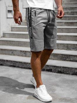 Серые мужские спортивные шорты Bolf JX383