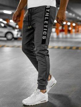 Серые спортивные мужские брюки Bolf TC950