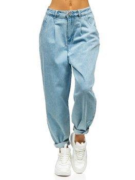 Синие женские джинсы mom fit Bolf WL1699