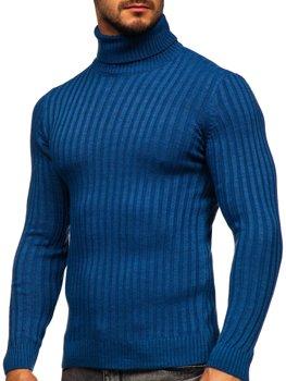 Синий мужской свитер гольф Bolf 4602