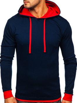 Темно-красная мужская толстовка с капюшоном Bolf 145380