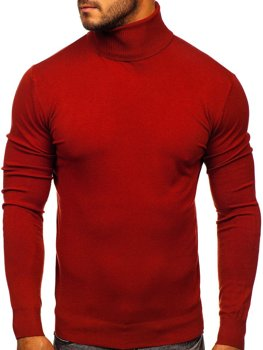 Темно-красная мужской свитер гольф Bolf YY02