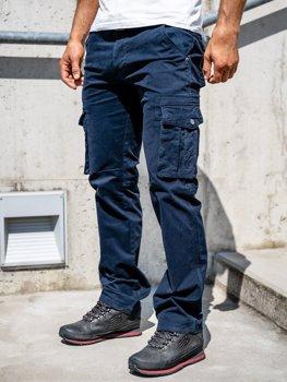 Темно-синие мужские брюки-карго с поясом Bolf 1672