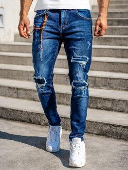 Темно-синие мужские джинсы slim fit Bolf R85019W0