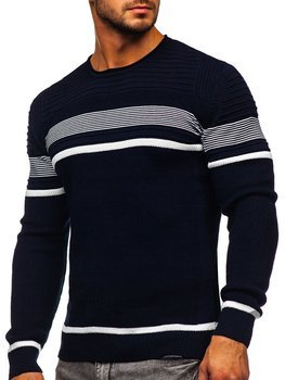 Темно-синий мужской свитер Bolf 1061