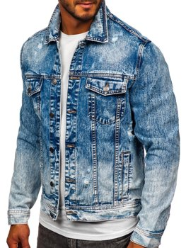 Темно-синяя джинсовая мужская куртка Bolf 6671B