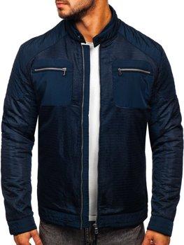 Темно-синяя мужская демисезонная куртка Bolf 1702