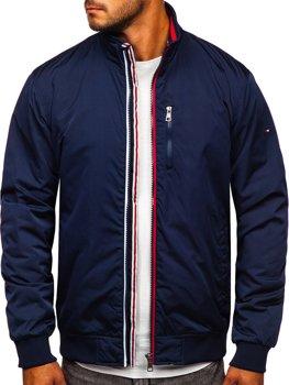 Темно-синяя мужская демисезонная куртка Bolf WX031A