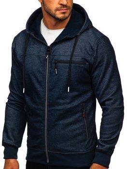 Темно-синяя мужская толстовка с капюшоном Bolf TC994