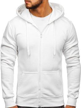 Толстовка мужская с капюшоном белая Bolf 2008