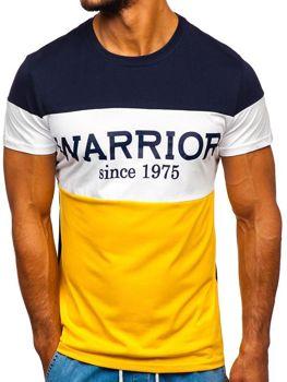 Футболка мужская с принтом желтая Bolf 100693
