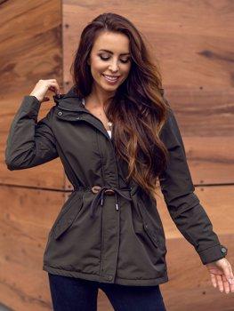 Хаки женская демисезонная куртка парка Bolf 6364