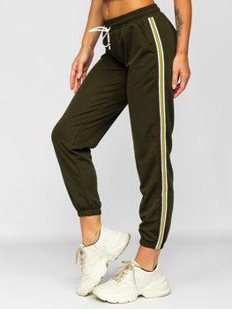 Хаки женские спортивные брюки Bolf YW01020B