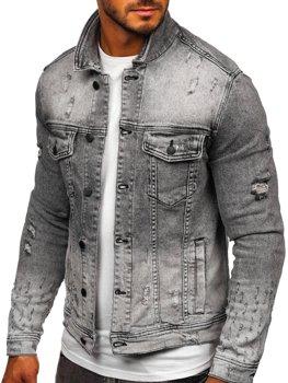 Черная джинсовая мужская куртка Bolf 6616G